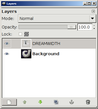 The Layers window, with the New Layer button highlighted.